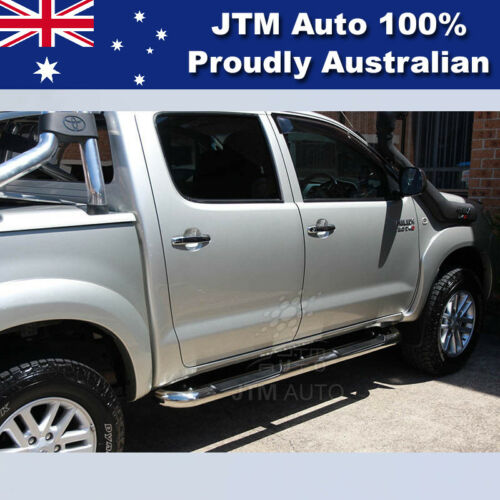 """Side Steps 3"""" Stainless Steel Running Board Suitable For Toyota Hilux 2005-2015"""