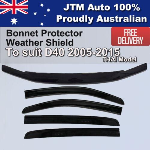 Bonnet Protector + Weathershields to suit Nissan Navara D40 2005-2015 Thai Model