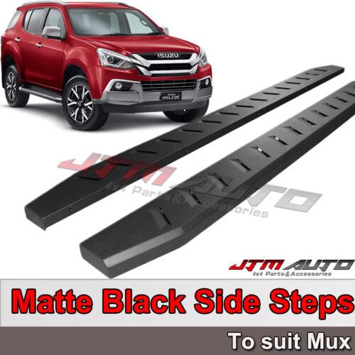 Heavy Duty Steel Black Off road Side Steps suit ISUZU MUX MU-X 2012-2020