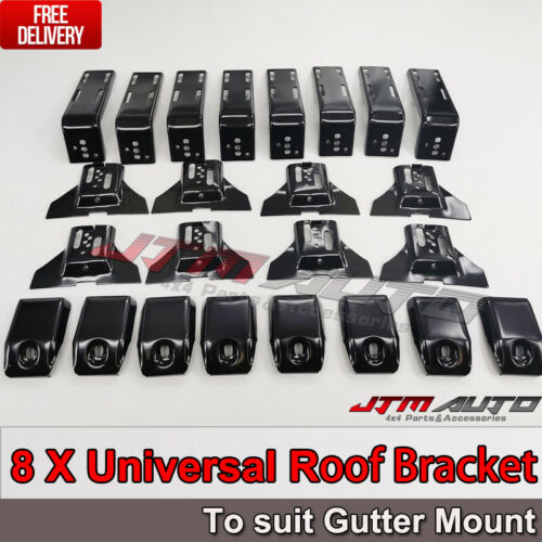 8 X Roof Rack Brackets Universal 15 CM for rain gutter mounts 4x4 4WD