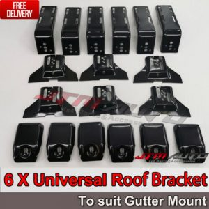 6 X Roof Rack Brackets Universal 15 CM for rain gutter mounts 4x4 4WD