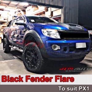 Matt Black OEM Fender Flares Black Guard Trim Fits To Ford Ranger PX1 2012-2015