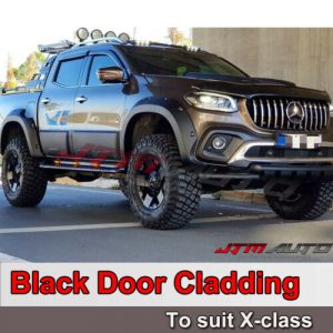 4pcs Side Door Body Molding Cladding Trim to suit Mercedes X-Class X Class