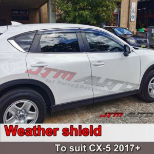 Chrome Trim Weather Shield Weathershield Window Visor for Mazda CX-5 2017+