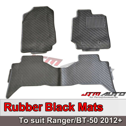 HEAVY DUTY Rubber Floor Mats Waterproof For Ford Ranger Dual cab 2012-2020