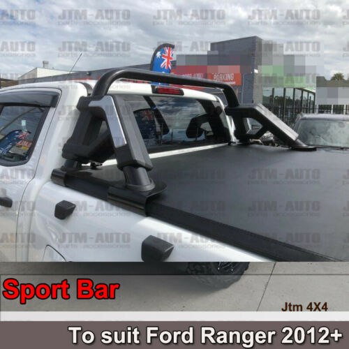 Black Roll Sport Bar to suit Ford Ranger PX PX2 PX3 2012-2019
