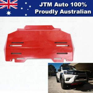Bash Plate Front Sump Guard Red Protection to suit Toyota Hilux 2015-2021