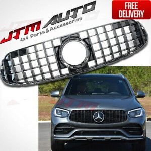 Black GT AMG Style Bumper Grille Grill to Suit Mercedes-Benz GLC X253 C253 2019+