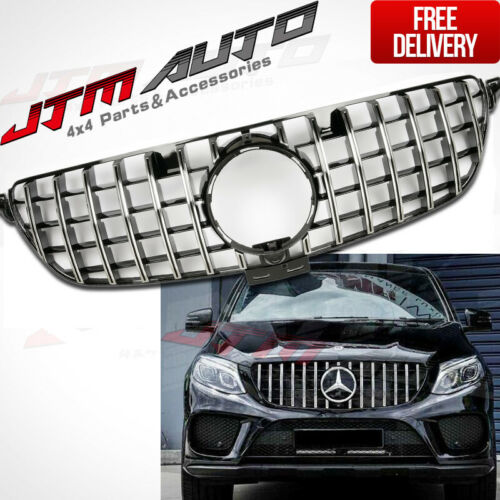 Chrome AMG GT Style Front Bumper Grille Grill For Mercedes-Benz GLE W166