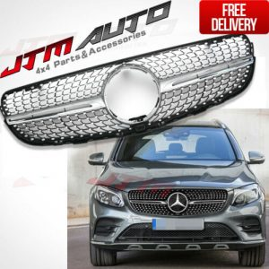 Diamond AMG43 Style Bumper Grille Grill For Mercedes-Benz GLC X253 C253 15-18
