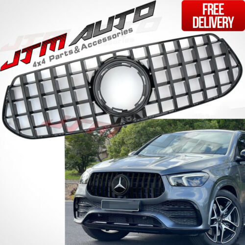 Gloss Black AMG GT Style Bumper Grille Grill to Suit Mercedes-Benz GLE V167 C167