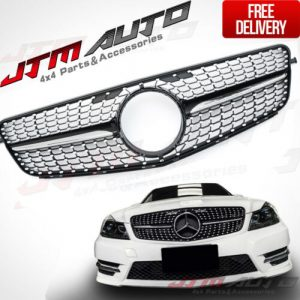 AMG C43 Diamond Style Bumper Grille Grill for Mercedes Benz C-Class W204 C204