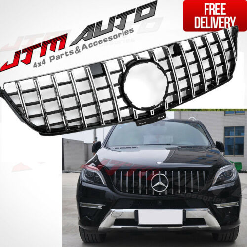 Chrome C63 AMG style Grill Grille to suit Mercedes C-Class W205 C205 & C43 MY19+
