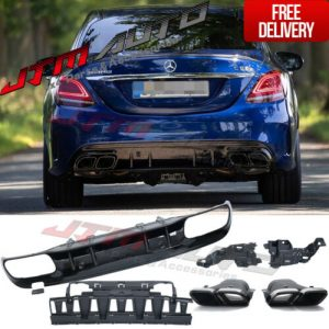C63 AMG Style Bumper Diffuser & Exhaust Tips to suit Mercedes Benz C-Class W205