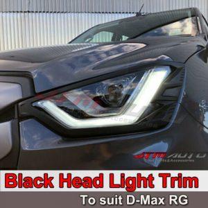 MATT Black Head Light Cover Trim to suit Isuzu D-max DMAX 2020+