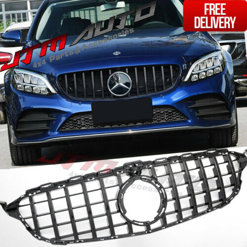 Black C63 AMG style Grill Grille to suit Mercedes C-Class W205 C205 & C43 MY19+