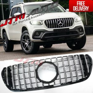 Chrome Black GT AMG style Grill Grille to suit Mercedes X-Class X CLass 470