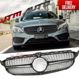 Diamond Chrome Grill Grille to suit Mercedes C-Class W205 C205 & C43 2015-2018