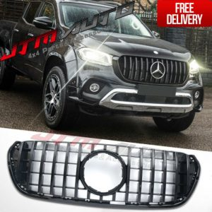 Gloss Black GT AMG style Grill Grille to suit Mercedes X-Class X Class 470
