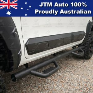 "Black Steel 3"" Side Step Running Board to suit Ford Ranger PX PX2 PX3 2012-2019"