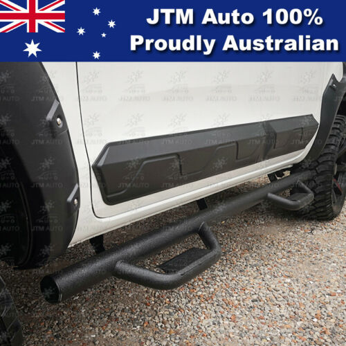 """Black Steel 3"""" Side Step Running Board to suit Ford Ranger PX PX2 PX3 2012-2019"""