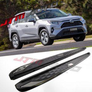 Black Running Boards Side Steps Aluminium to suit Toyota Rav4 2019+