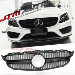 Black AMG style Grill Grille to suit Mercedes C-Class W205 C205 & C43 2015-2018