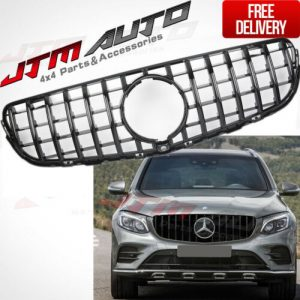 Black AMG Style Bumper Grille Grill to Suit Mercedes-Benz GLC X253 C253 15-18+