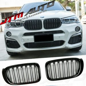 Gloss Black M Style Front Bumper Kidney Grill Grille for BMW X3 F25 LCI X4 F26