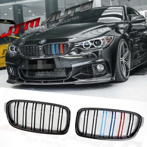Gloss Black M Style Front Bumper Bar Grill Grille to suit BMW 3 Series F30 F31