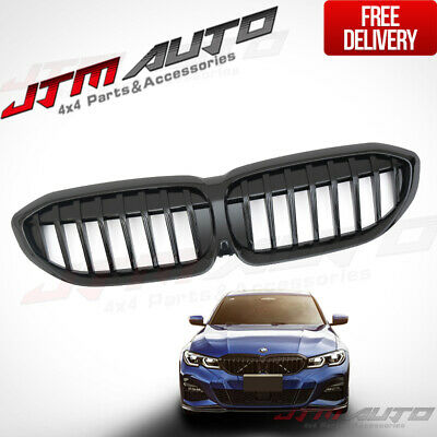 Gloss Black Front Bumper Bar Grill Grille suitable for BMW 3 Series G20 G21