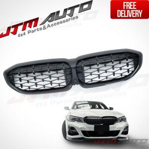 Diamond Gloss Black Front Bumper Bar Grill Grille to suit BMW 3 Series G20 G21
