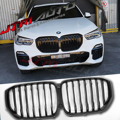 Gloss Black Double M Style Front Bumper Kidney Grill Grille for BMW X5 G05