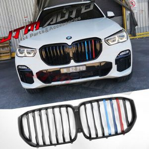 Gloss Black Double M Line Front Bumper Kidney Grill Grille for BMW X5 G05