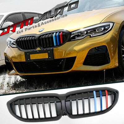 Gloss Black M Line Front Bumper Grill Grille suitable for BMW 3 Series G20 G21