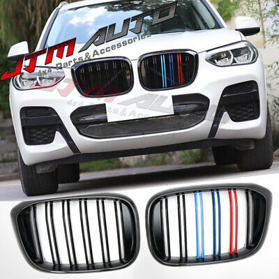 Gloss Black M Line Front Bumper Kidney Grill Grille for BMW X3 G01 & X4 G02