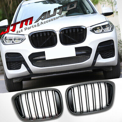 Gloss Black M Style Front Bumper Kidney Grill Grille for BMW X3 G01 & X4 G02