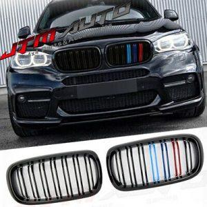 Gloss Black M Line Bumper Grill Grille for BMW X5 F15 X6 F16 X5M F85 X6M F86