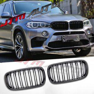 Gloss Black M Style Bumper Grill Grille for BMW X5 F15 X6 F16 X5M F85 X6M F86
