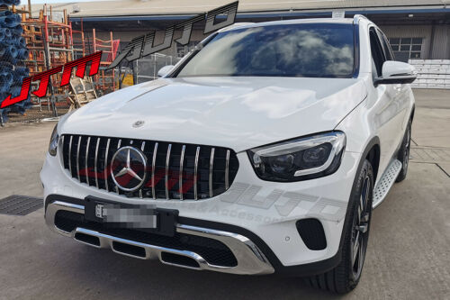 Chrome GT AMG Style Bumper Grille Grill for Mercedes-Benz GLC X253 C253 2019+
