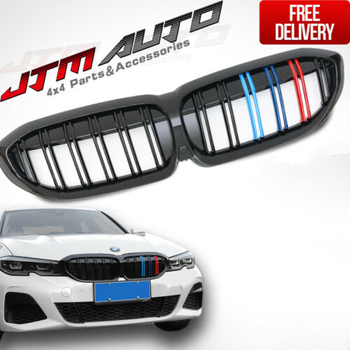 Gloss Black Double M Line Bumper Grill Grille suitable for BMW 3 Series G20 G21