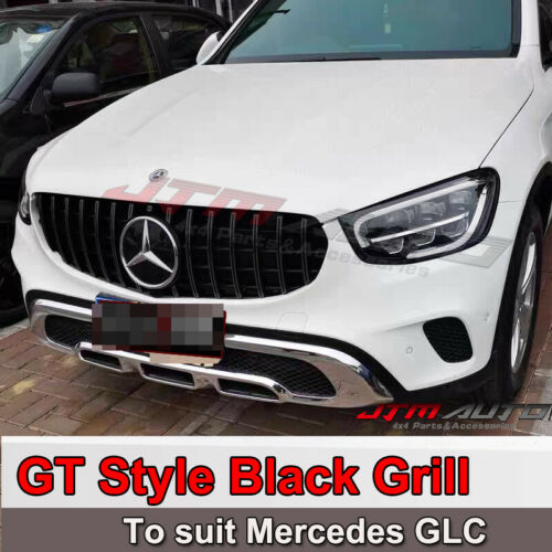 Black GT AMG Style Bumper Grille Grill for Mercedes-Benz GLC X253 C253 2019+