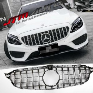 Chrome GT Style Grill Grille to suit Mercedes C-Class W205 C205 & C43 2015-2018