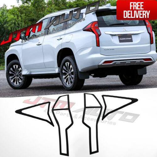 MATT Black Tail Light Cover Trim to suit Mitsubishi Pajero Sport QF 2020+