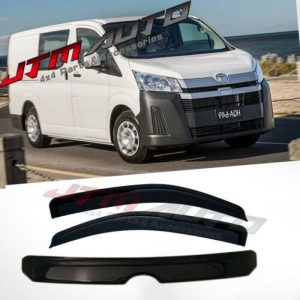 Bonnet Protector Guard + Weather Shields Visor to suit Toyota Hiace 2019+