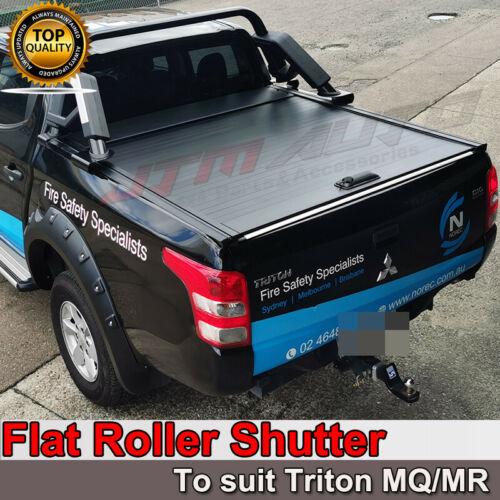 Flat Roller Shutter Tonneau Hard Lip To Suit Mitsubishi Triton MQ MR 2015-2021