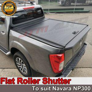 Flat Roller Shutter Tonneau Hard Lip to suit Nissan Navara NP300 D23 2015-2021