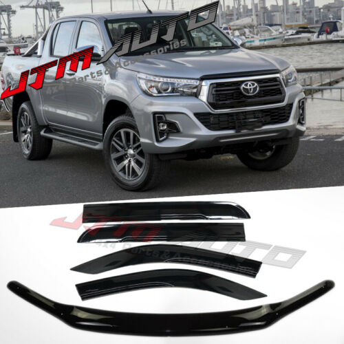 Bonnet Protector + Window Visors to suit Toyota Hilux N80 2015-2020