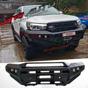 Heavy Duty Deluxe Bull bar Winch compatible to suit Toyota Hilux N80 2015-2018