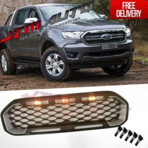 LED Mesh Grill Silver Plastic Insert Grille suit Ford Ranger PX3 XLS XLT 2018+